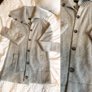 Theory Cowl Neck Button up Cardigan